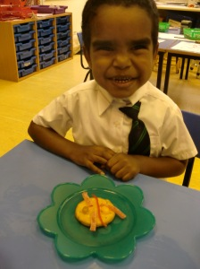Mohnad really enjoyed his Bug Biscuit!