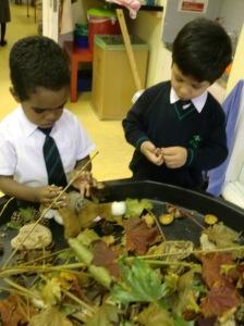 Zakariyya and Mohnad exploring Autumn