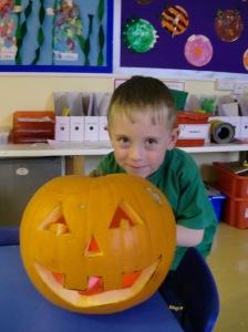Our pumpkin head was fantastic!