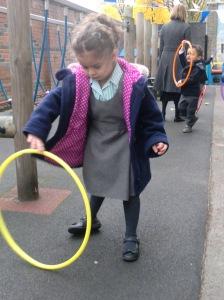 Aljood spinning hoops.