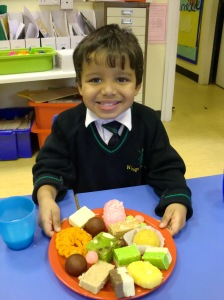 We tasted some Diwali sweets.