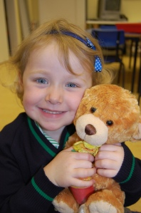Our teddies came to school with us for a picnic.