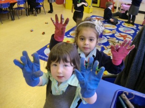 We wore our gardening gloves