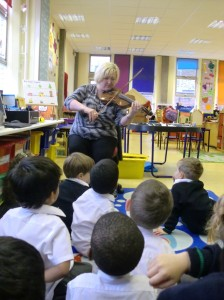 Miss Turner played her violin for us.