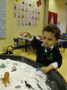 We loved the pretend snow!