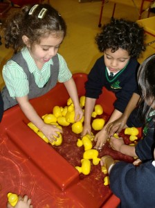 We read 'The Ugly Duckling' and played with the ducks.