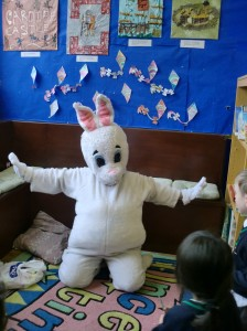 The Easter Bunny came to visit us!