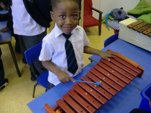 We played real xylophones too.